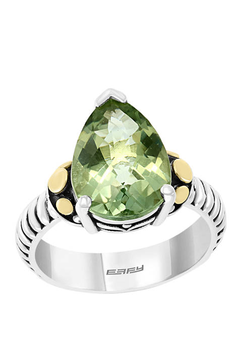 Effy® 4.9 ct. t.w. Green Amethyst Ring in