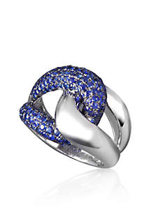 Sapphire Ring in 10K Sterling Silver