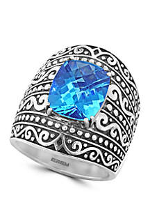 6.95 ct. t.w. Blue Topaz Ring in Sterling Silver
