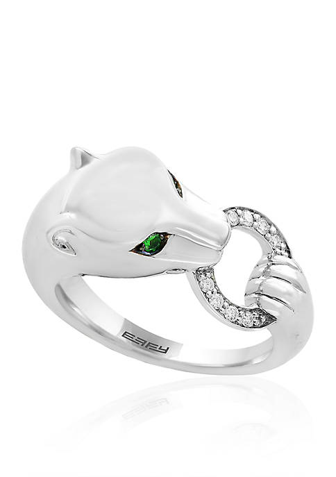 Effy® 0.07 ct. t.w. Diamond Tsavorite Signature Panther