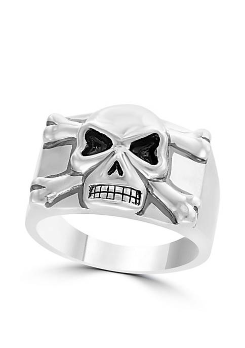 Effy® Mens Sterling Silver Skull Ring