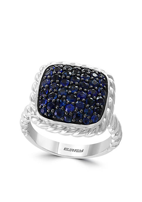 1.50 ct. t.w. Sapphire Ring in Sterling Silver