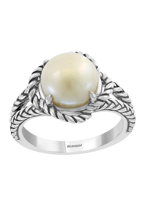 Sterling Silver 9 Millimeter Freshwater Pearl Ring