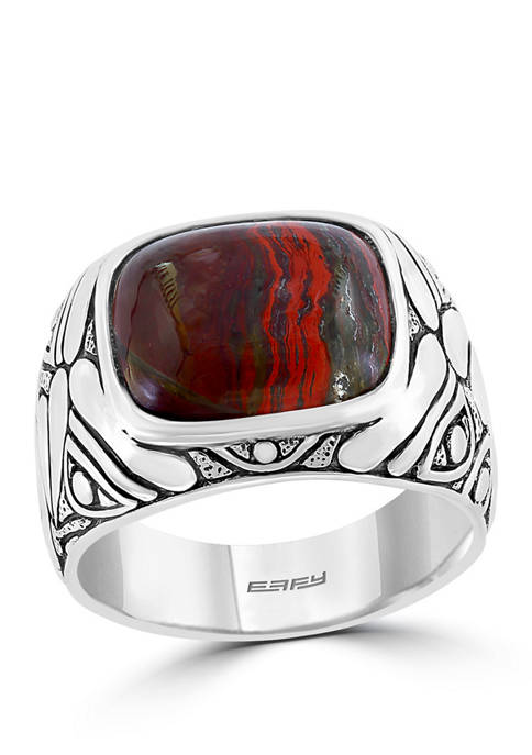 Effy® Mens 5.4 ct. t.w. Red Jasper Ring