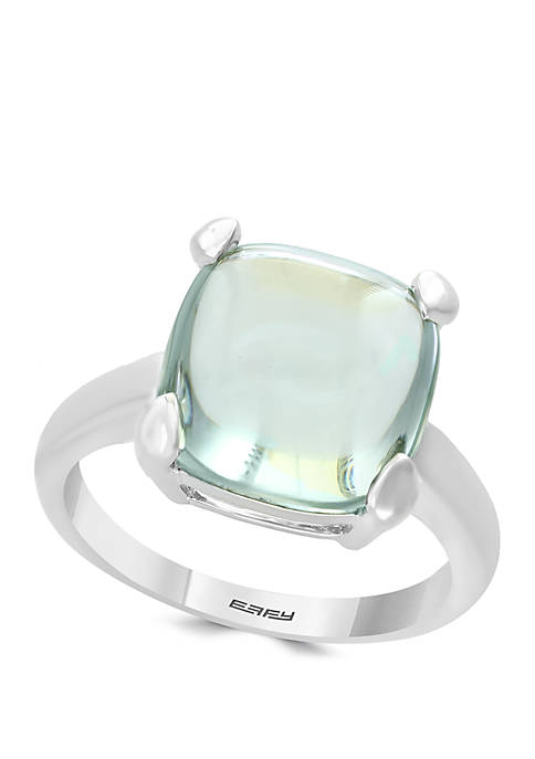 8.6 ct. t.w. Green Amethyst Ring in Sterling Silver