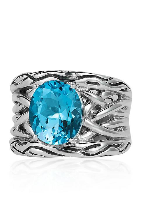 Topaz Ring in Sterling Silver