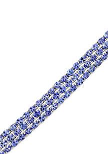 Effy® Sterling Silver 3 Row Tanzanite Bracelet