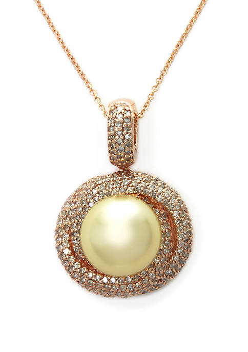 Effy® South Sea Pearl and Diamond Pendant Necklace