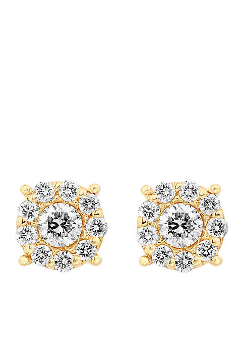 Effy® 14k Yellow Gold Diamond Earrings