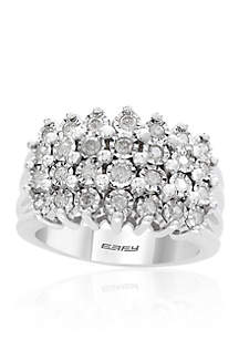 0.49 ct. t.w. Diamond Beaded Ring in Sterling Silver