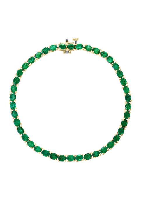 Effy® 7.98 ct. t.w. Emerald Bracelet in 14K