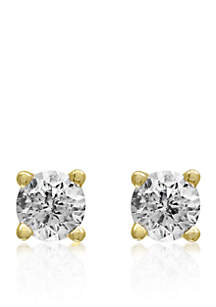 1/6 ct. t.w. Classic Diamond Stud Earrings in 14K Yellow Gold