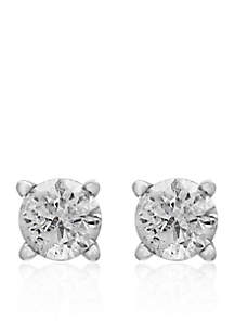 1/4 ct. t.w. Classic Diamond Studs in 14K White Gold