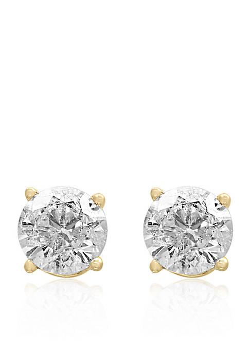 1/3 ct. t.w. Diamond Stud Earrings in 14K Yellow Gold