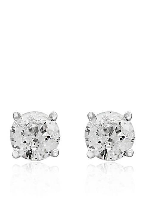 3/4 ct. t.w. Classic Diamond Stud Earrings in 14K White Gold