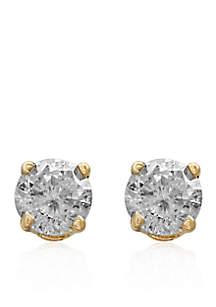 3/4 ct. t.w. Classic Diamond Stud Earrings in 14K Yellow Gold