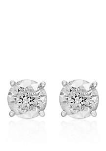 1.5 ct. t.w. Classic Diamond Stud Earrings in 14K White Gold
