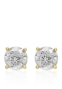 1.5 ct. t.w. Classic Diamond Stud Earrings in 14K Yellow Gold