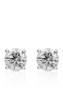 2.0 ct. t.w. Diamond Stud Earrings in 14K White Gold