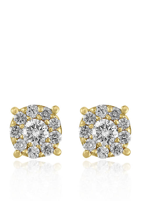 Effy® 1/2 ct. t.w. Diamond Cluster Earrings in