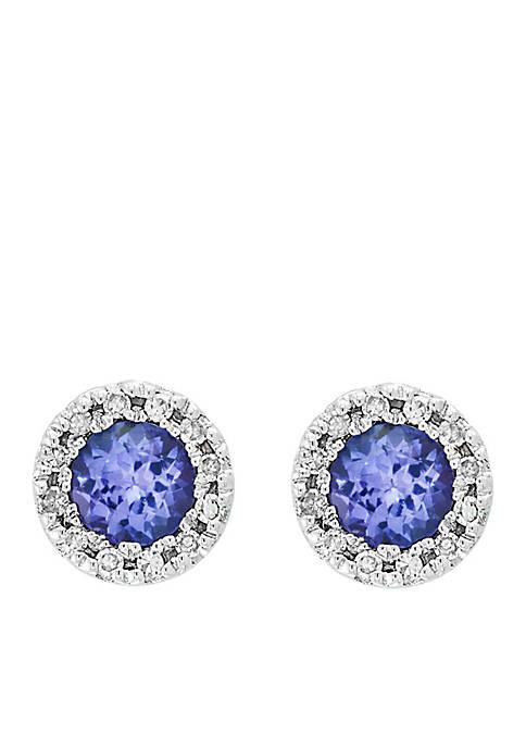 Effy® 1/8 ct. t.w. Diamond Tanzanite Earrings in