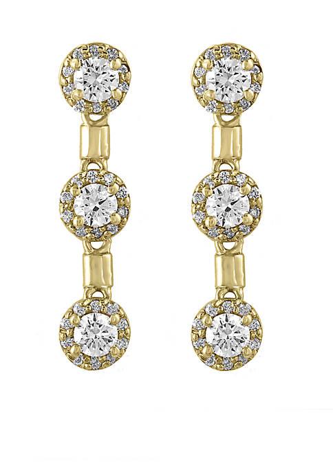 1.18 ct. t.w. Drop Earrings in 14k Yellow Gold