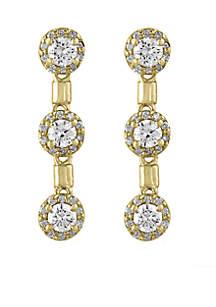 Effy® 1.18 ct. t.w. Drop Earrings in 14k Yellow Gold