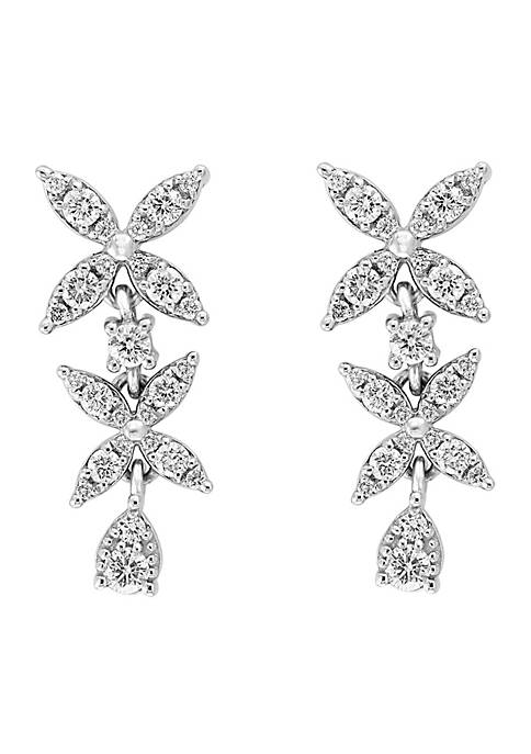 Effy® 0.73 ct. t.w. Diamond Dangle Earrings in