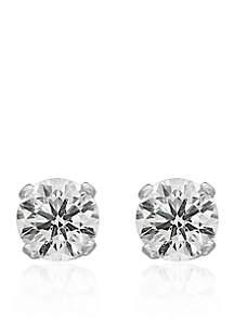 1/3 ct. t.w. Premier Diamond Stud Earrings in 14K White Gold