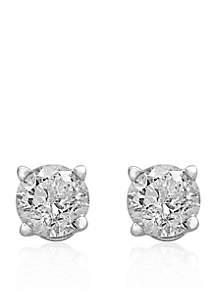 1/2 ct. t.w. Premier Diamond Stud Earrings in 14K White Gold