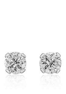 1/6 ct. t.w. Premier Diamond Stud Earrings in 14K White Gold