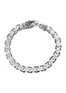 Sterling Silver Eagle Head Clasp Bracelet
