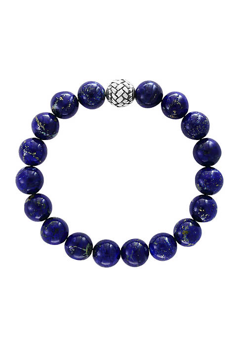 Effy® Mens Lapis Lazuli Beaded Stretch Bracelet