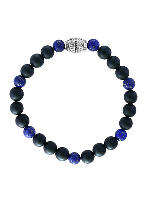 Effy® Mens Meteorite and Lapis Lazuli Beaded Bracelet