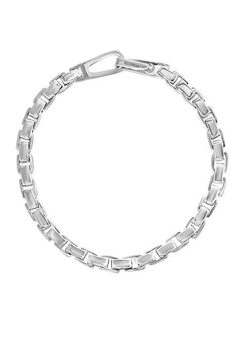 Sterling Silver Box Link Bracelet