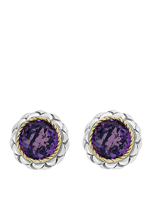 Effy® 18K Sterling Silver Amethyst Earrings