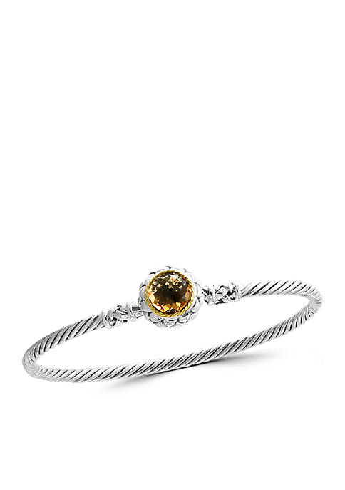 Effy® 2.75 ct. t.w. Citrine Bangle Bracelet in