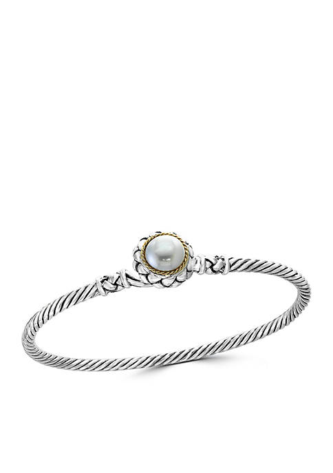 Effy® Fresh Water Pearl Bangle Bracelet in Sterling