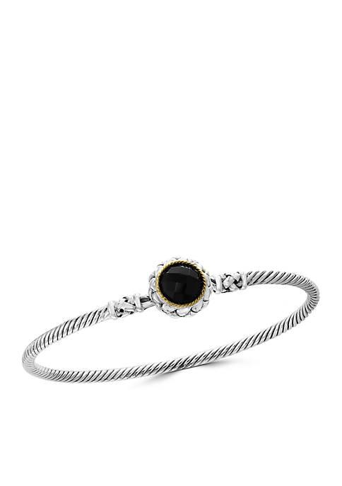 Effy® 2.70 ct. t.w. Onyx Bangle Bracelet in