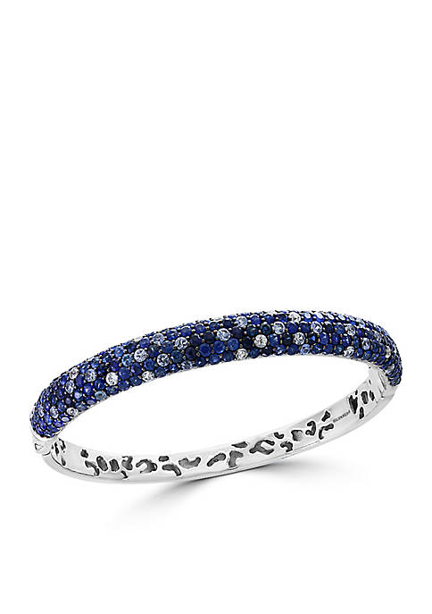 Effy® Sterling Silver Shades Of Blue Sapphire Bangle