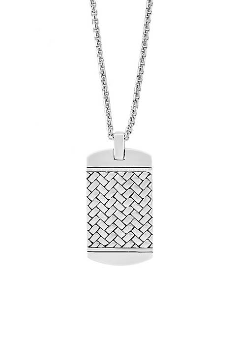 Effy® Sterling Silver Rhodium Dog Tag Necklace