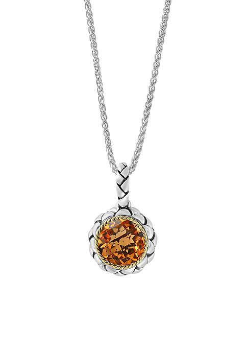 Effy® 3.00 ct. t.w. Citrine Pendant Necklace in