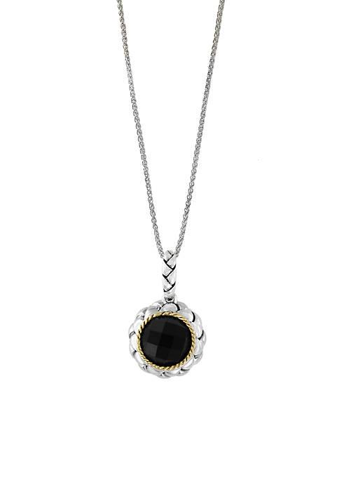 Effy® 2.50 ct. t.w. Onyx Pendant Necklace in