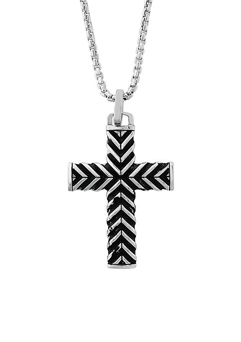 Effy® Sterling Silver Cross Pendant Necklace