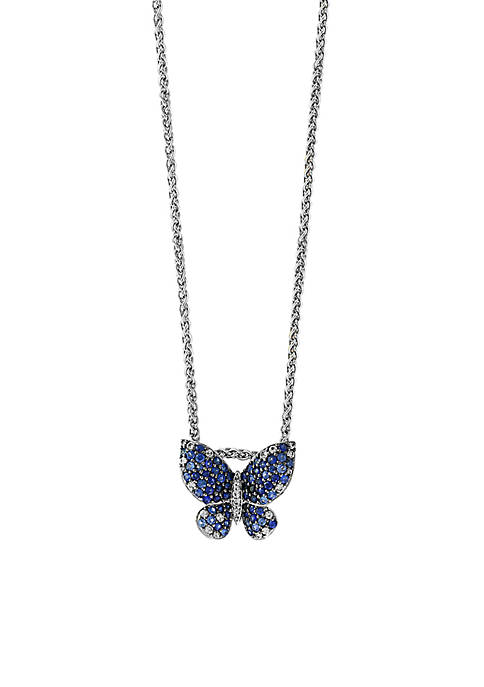 Effy® Sterling Silver Shades of Sapphire Butterfly Pendant