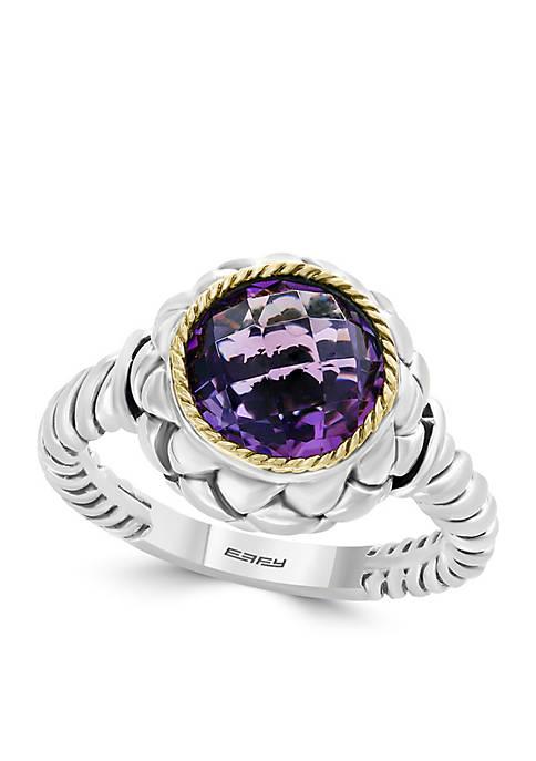 Effy® 18k Sterling Silver Amethyst Ring