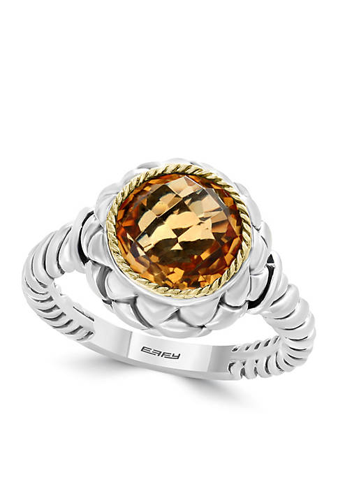 Effy® 18k Sterling Silver Citrine Ring