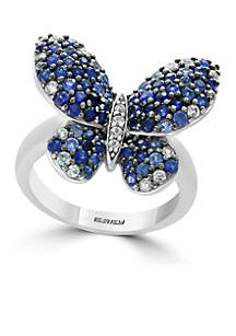 Effy® Sterling Silver Sapphire Butterfly Ring
