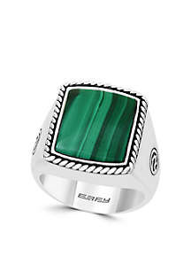 Sterling Silver Malachite Ring