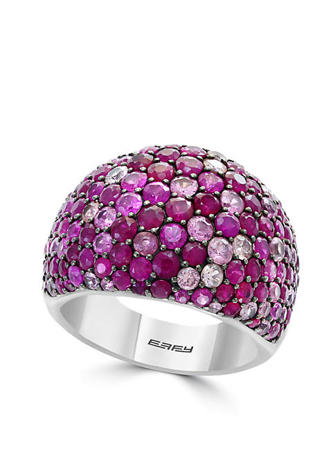 Effy® 925 Sterling Silver Ruby Pink Sapphire Dome
